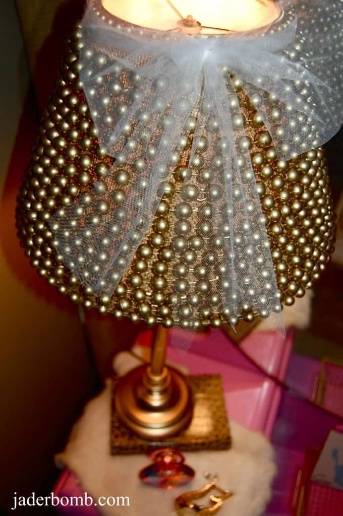 Diy beaded lamp shade