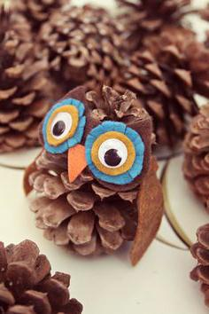 the Owl of cones and plasticine