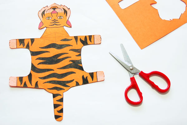 Step 2 Folding Paper Zoo Animals