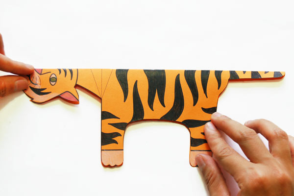 Step 3 Folding Paper Zoo Animals