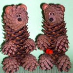 Как сделать медведя из шишек – Поделки для детей из природных материалов