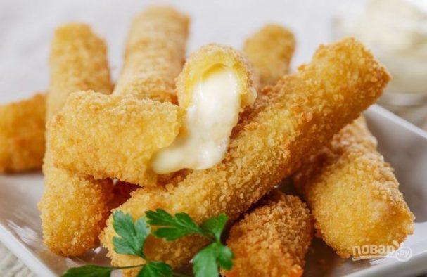 Сыр жареный в кляре рецепт с фото пошагово #8