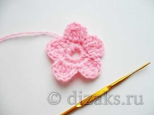 a7dd1cac694e В серединку цветка можно прикрепить бусинку или красивую пуговицу. Детская  сумочка, связанная крючком готова.