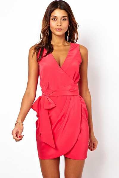 d05da28cc4145f1 Фото платья в пол с запахом – длинное, черное, новинки, красное ...