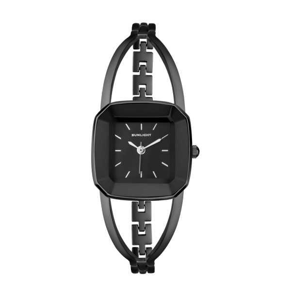 21c13239 Представленные ниже часы на металлическом браслете имеют лаконичный дизайн:  в них нет ничего лишнего, классический черный компенсирован оригинальной  формой ...